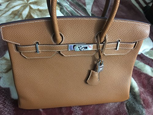Authentic Brown Hermes Birkin With The Silver Metal  100  Natural Leather  35Cm  In A Great Condition Like New   Was Bought In Paris   Shipping Will Be In One Business Day  The Bag Is Coming With Dust Bag And Clutch  Happy Shopping