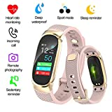 LIGE Fitness Trackers,IP67Waterproof Smart sports bracelet Color screen Pedometer Heart rate monitor Sleep