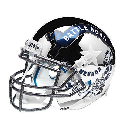 NCAA Nevada Wolfpack Battle Born Replica Helmet, One Size by Schutt