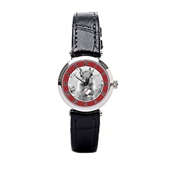 CacheCo. St Louis Rally Squirrel - Baseball Leather Band Watches For Women