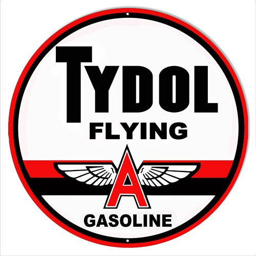 """Tydol Flying Motor Oil Reproduction Sign 14""""x14"""" Round"""