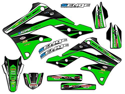 Senge Graphics Senge Graphics kit compatible with Kawasaki 2003-2012 KX 125/250 (2-STROKE), Vigor Green Graphics Kit (05 Kx 250 Graphics)