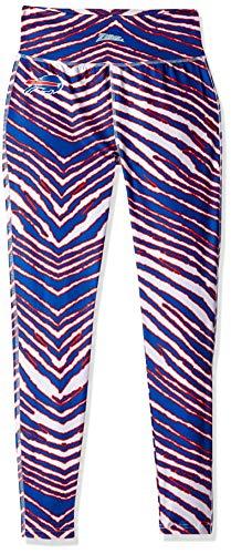Zubaz Women's Ladies NFL Team Zebra Print Leggings Pant, -