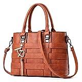 TIBES Women Top Handle Satchel Bags Cute Crossbody Bag Gift for Bag Earthy