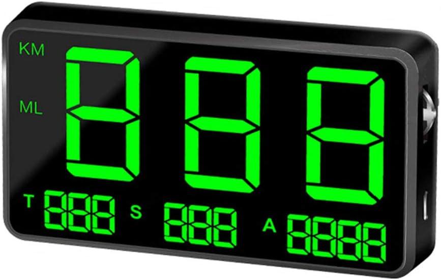 HUD Bike Overspeed Warning System Centeraly Universal Digitales GPS-Tachometer mit gro/ßem Bildschirm