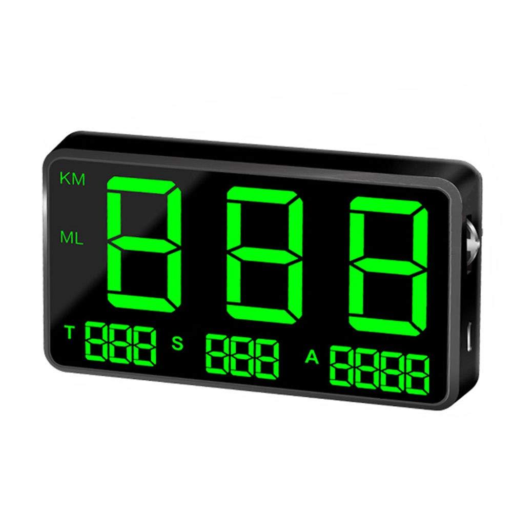 Sistema di Allarme per eccesso di velocit/à Centeraly tachimetro HUD Tachimetro Digitale Universale con Grande Schermo GPS