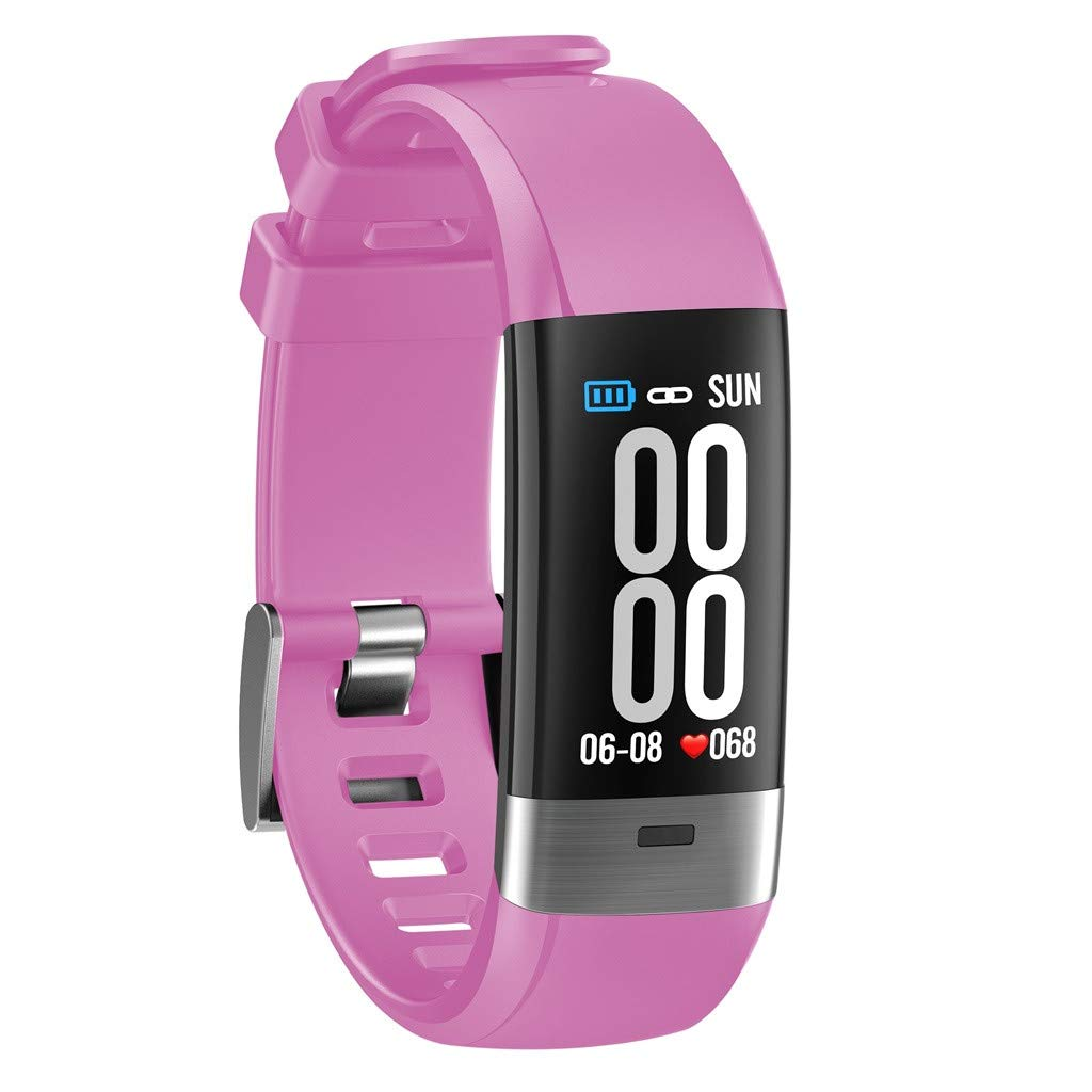 Hot Sale! NDGDA, Touch Screen Smart Watch Sports Belt Bracelet Call Pedometer Heart Rate (Pink) by NDGDA Smart Watch (Image #2)