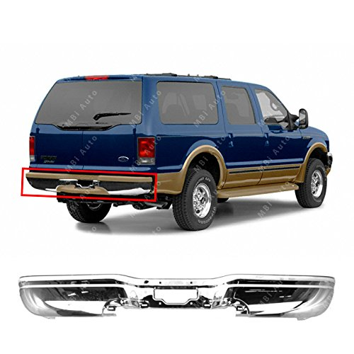 MBI AUTO - Chrome, Steel Rear Bumper Face Bar Shell for 2000-2005 Ford Excursion 00-05, FO1102327