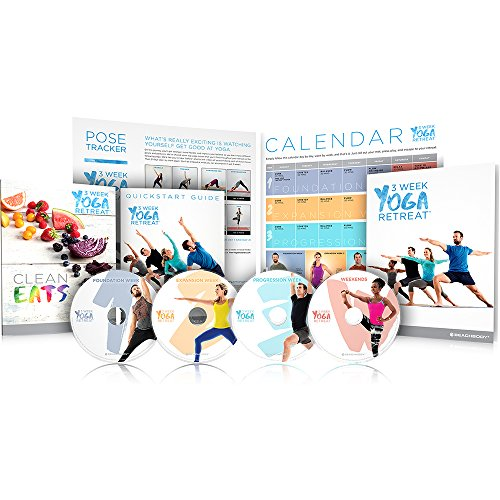 3 Week Yoga Retreat Workout Program (DVDs) - Learn Yoga at home in 21 - Try Home At On