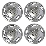 TuningPros WSC3-941C15 4pcs Set Snap-On Type (Pop-On) 15-Inches Chrome Finish Hubcaps Wheel Cover