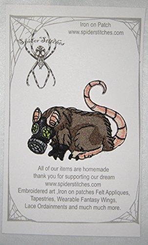 Plague Rat Gas Mask Steam Punk Iron on Patch Plague Survivor]()