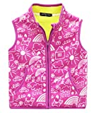#9: Happy Cherry Kids Winter Fleece Vest Cartoon Stand Collar Zipper Up Waistcoat