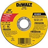 Dewalt DW8062 Type 1 High Performance Reinforced Cut-Off Wheel, 4-1/2 In Dia X 0.045 In 7/8in Arbor (25) Pack)