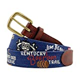 Smathers & Branson Men's Kentucky Bourbon Trail Needlepoint Belt 40 Classic Navy