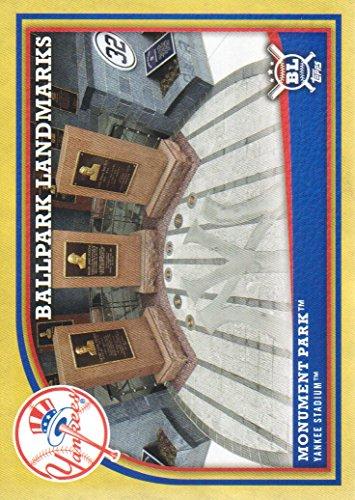 - 2018 Topps Big League Baseball Gold Parallel #365 Monument Park New York Yankees