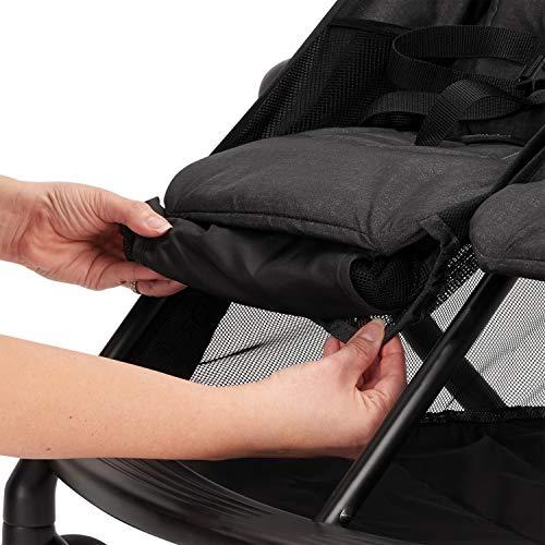 51A8lBbB%2BrL - Evenflo Aero2 Ultra-Lightweight Double Strollers, Compact, Self-Standing Folding Design, Shopping Basket Single-Child Mode, Seatback Storage Pocket, 2 Mesh In-Seat Pockets, 50-lb Per Seat, Osprey Gray