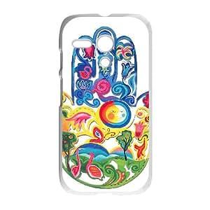 Motorola G Cell Phone Case White HAMSA 003 YWU9336873KSL