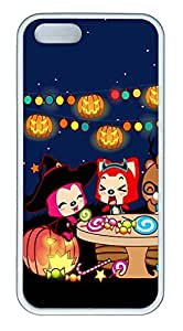 iPhone 5 5S Case A Raccoon Celebrate Halloween TPU Custom iPhone 5 5S Case Cover White