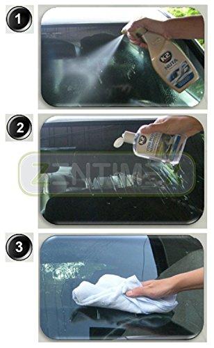 Sombreretes anti-lluvia deflectores de agua Cristal sellado Invisible Limpiaparabrisas Parabrisas sellado ventanas Cristal Lotus Efecto Nano Efecto nanotech ...