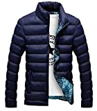 zara man quilted jacket - Rising ON Mens Vogue Stand Collar Lightweight Quilted Down Puffer Coat Dark BlueUS-S