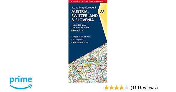 Road Map Austria, Switzerland & Slovenia (Road Map Europe): AA ...