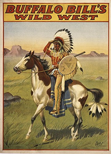 Buffalo Bills Wild West IV by Vintage Apple Collection Art Print, 26 x 35 -