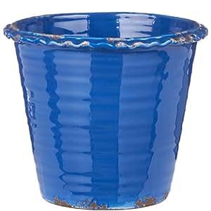 BUTLERS PERFECT POTTERY Blumentopf Vintage 24cm azul