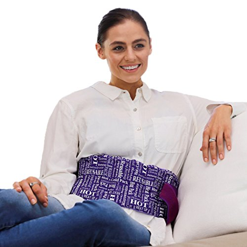 - Heat Therapy Pack – Everywhere Wrap – Microwaveable Heating Pads - Scented, Natural, Reusable Hot & Cold Therapy by HTP Relief (Purple)