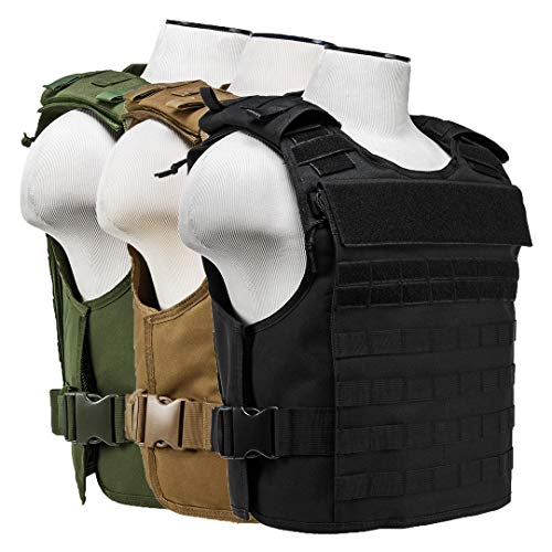 ATG Rapid Tactical Vest MOLLE and PALS Fully Adjustable Law Enforcement (Tan, 2XL+)