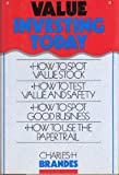 Value Investing Today, Brandes, Charles H., 1556231784
