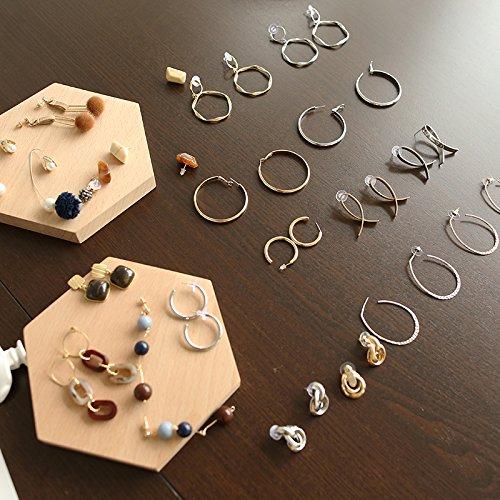(Minimalist style retro geometric tortoise shell earrings metal minimalism series)