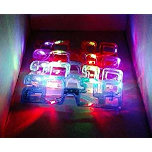 2018 Happy New Years Eve Party LED Flashing Light up Novelty Glasses Assorted Party Favors Club Rave Eyewear, 6-Pieces