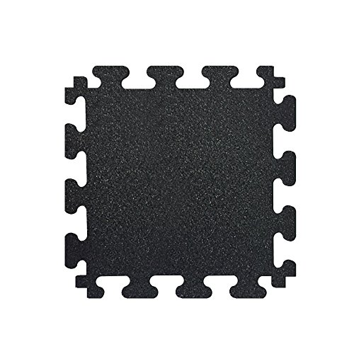 Fanmats Tiles - FANMATS MM7010 Titan Tile Black 18 in. x 18 in. Rubber Tile Flooring (6-Pack), Black, 18 Inch x 18 Inch, 0 ounces