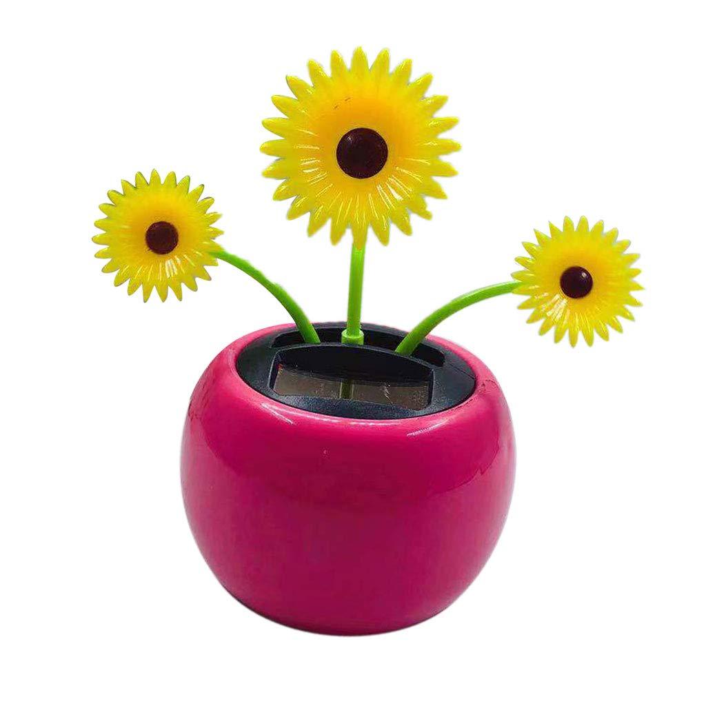 225 & Amazon.com: Flameer Plastic Solar Powered Flower Pot Figure ...