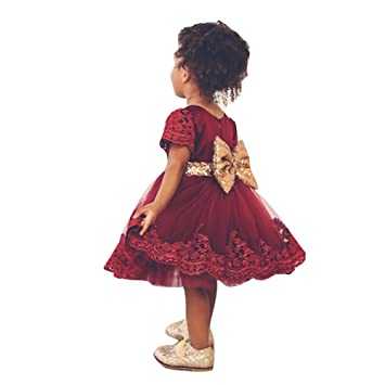 8cb191e2941 Highdas Robe de soirée pour bébés Robe de mariée en marbrure  Amazon ...