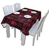 Sugar Skull Dia De Los Muertos 100% Polyester Tablecloth Table Cover for Dinner Parties Picnic Kitchen Home Decor, Multi Size Available