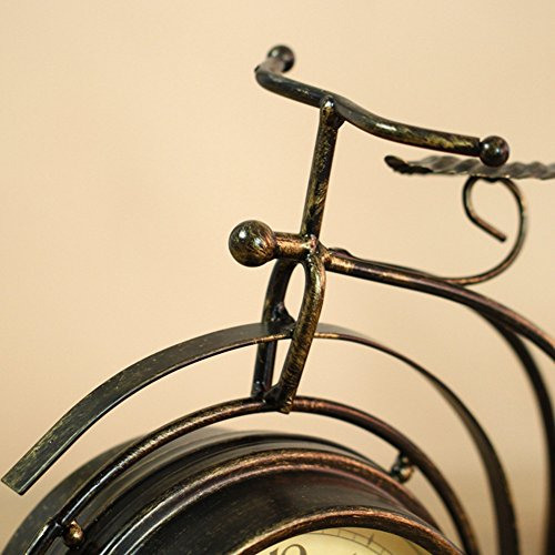 NEOTEND Handmade Vintage Bicycle Clock Bike Mute Two Sided Table Clock by NEOTEND (Image #4)