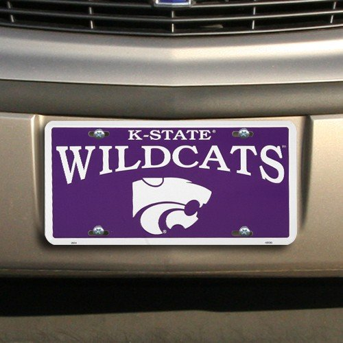 Kansas State Wildcats License Plate Aluminum Sign 6 x 12in (License Plate Frame Kansas State compare prices)