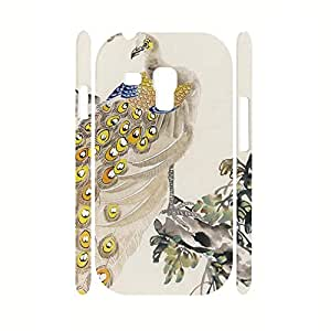 Custom Animal Series Peacock Feather Pattern Anti Shock Phone Case Skin for Samsung Galaxy s3 Mini I8200 Case by supermalls