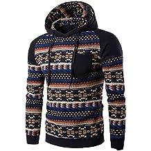 Men Shirt,Haoricu Fall Men Bohemia Retro Long Sleeve Hoodie Sweatshirt Tops Jacket Coat Outwear