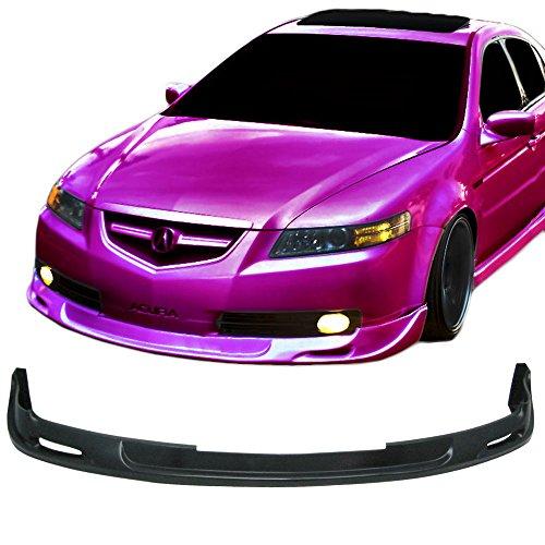 Front Bumper Lip Fits 2004-2006 ACURA TL   PU Black Front Lip Spoiler Splitter by IKON MOTORSPORTS   2005 ()