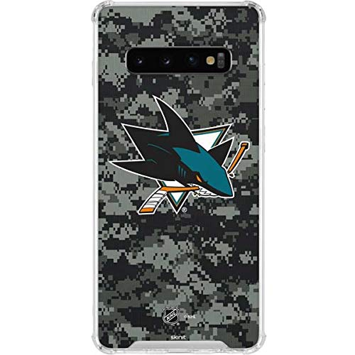 8c9234dc5ae Image Unavailable. Image not available for. Color: Skinit San Jose Sharks  Camo Galaxy S10 Clear Case ...