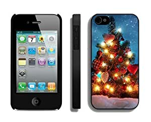 2014 New Style For Iphone 5/5S Cover Protective Skin Case Merry Christmas For Iphone 5/5S Cover Case 71 Black