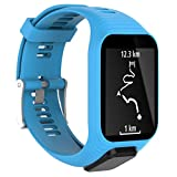 (US) For TomTom Runner 2 / 3 Sport GPS Watch, Mchoice Replacement Silicone Band Strap (Blue)