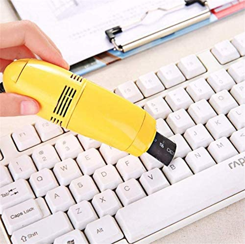 Markcur Mini USB - Aspirador de teclado para ordenador portátil (amarillo): Amazon.es: Hogar