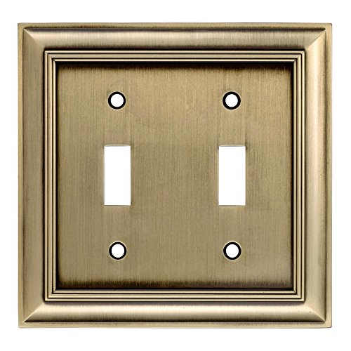 allen + roth Double Toggle Antique Brass Finish Light Swi...