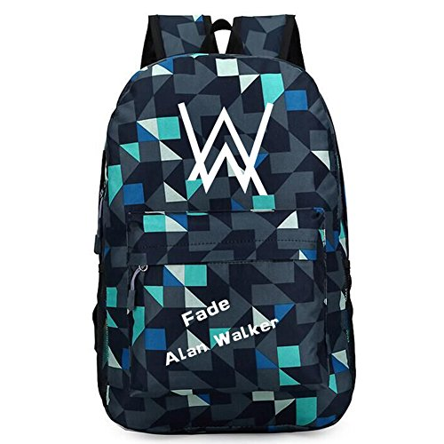 XCOSER Travel Sports Bag Alan Walker Backpack Accessory School Bag Bookbag -