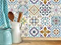 BLUMEN Decorative Tile Stickers Set 12 units 6x6 inches. Peel & Stick Vinyl Tiles. Backsplash. Home Decor. Furniture Decor.