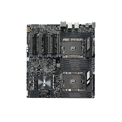 ASUS WS C621E Sage Extreme Power Intel Xeon Processor Workstation Motherboard for Two-way XEON CPU performance, with U.2, M.2 connectors, dual Gb LAN, USB 3.1 Type-C & Type-A, 10 x ()