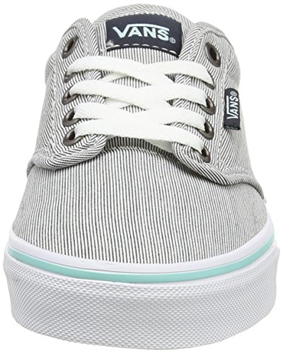 Vans W Atwood Low, Damen Sneaker Blue (Stripes - Blue Graphite/Blue Tint)